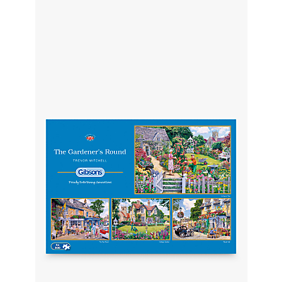 Image of Gibsons The Gardener's Round, Jigsaw Puzzles, 4 x 500 Pieces