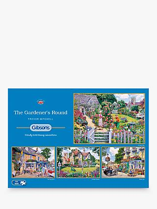 Gibsons The Gardener's Round, Jigsaw Puzzles, 4 x 500 Pieces