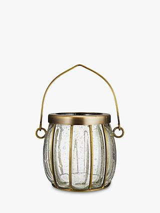 Croft Collection Bubble Glass Candle Holder