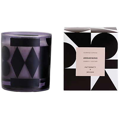 PATTERNITY + John Lewis Awakening Candle, Black