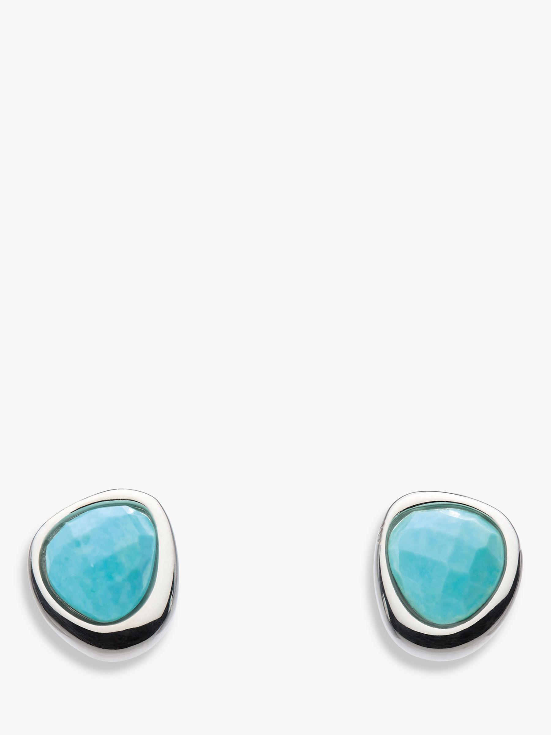 flowers white stones stud pic products gold vermeil turquoise earring single