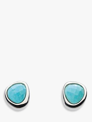 Kit Heath Coast Pebble Turquoise Stud Earrings, Blue