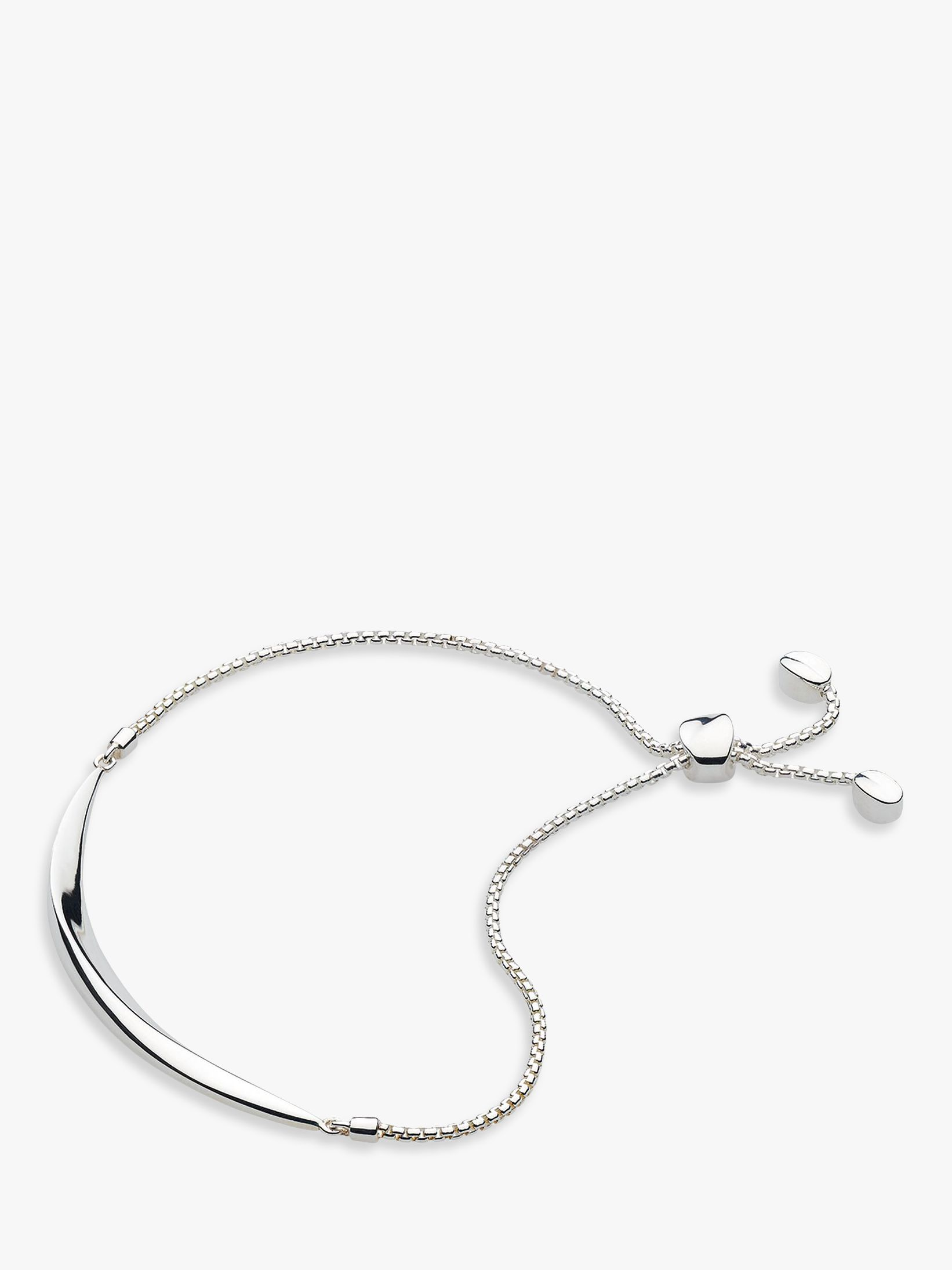 Kit Heath Kit Heath Bevel Curve Bar Toggle Bracelet, Silver