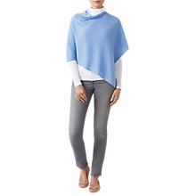 Buy Pure Collection Gassato Cashmere Poncho, Sky Blue Online at johnlewis.com
