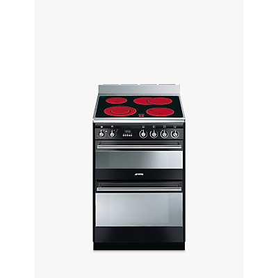Image of Smeg SUK62CBL8 Double Electric Cooker, A Energy Rating, Black