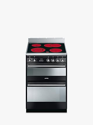 Smeg SUK62CBL8 Electric Cooker, Black
