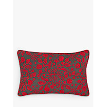 Buy John Lewis Folklore Snowflake Embroidered Cushion, Red Online at johnlewis.com