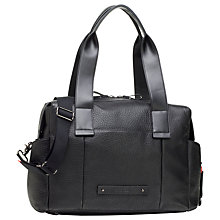 Buy Storksak Kym Leather Changing Bag, Black Online at johnlewis.com
