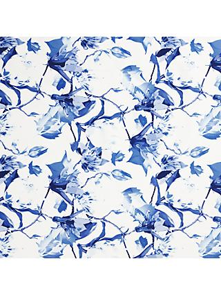 Viscount Textiles Large Lily Print Fabric, White/Blue