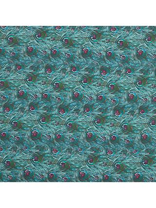 John Lewis & Partners Peacock Feathers Print Fabric, Green
