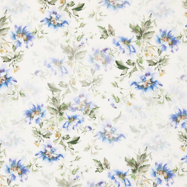 John Lewis Flowers John lewis watercolour flowers print fabric whiteblue at john lewis buyjohn lewis watercolour flowers print fabric whiteblue online at johnlewis sisterspd
