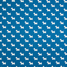 Buy Rose & Hubble Scottish Terrier Print Fabric, Blue Online at johnlewis.com