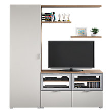 Buy House by John Lewis Mix it Floor and Floating Units, Matt Smoke/Oak/Glazed Aluminium Online at johnlewis.com