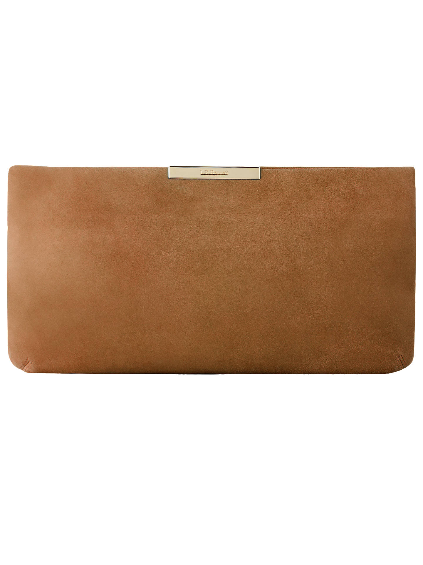 Buy L.K. Bennett Flora Leather Clutch Bag, Light Biscuit Online at johnlewis.com