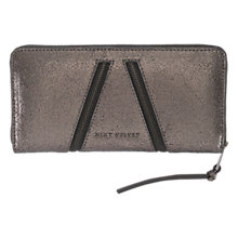 Buy Mint Velvet Double Zip Front Leather Purse, Metallic Online at johnlewis.com