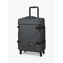 Buy Eastpak Trans4 Small 54cm 2-Wheel Cabin Case, Black Denim Online at johnlewis.com