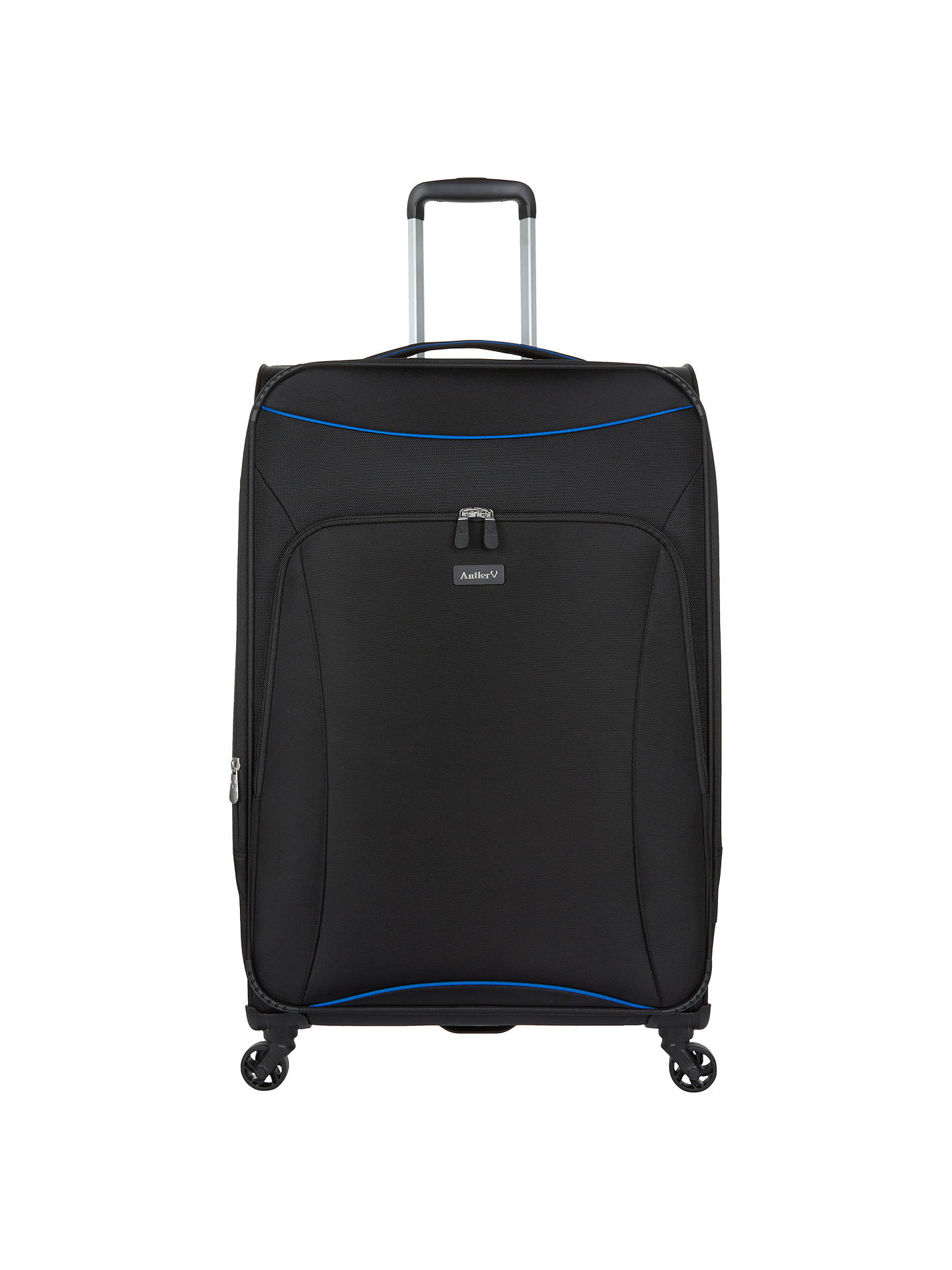 BuyAntler Zeolite 78cm 4-Wheel Large Suitcase, Black Online at johnlewis.com