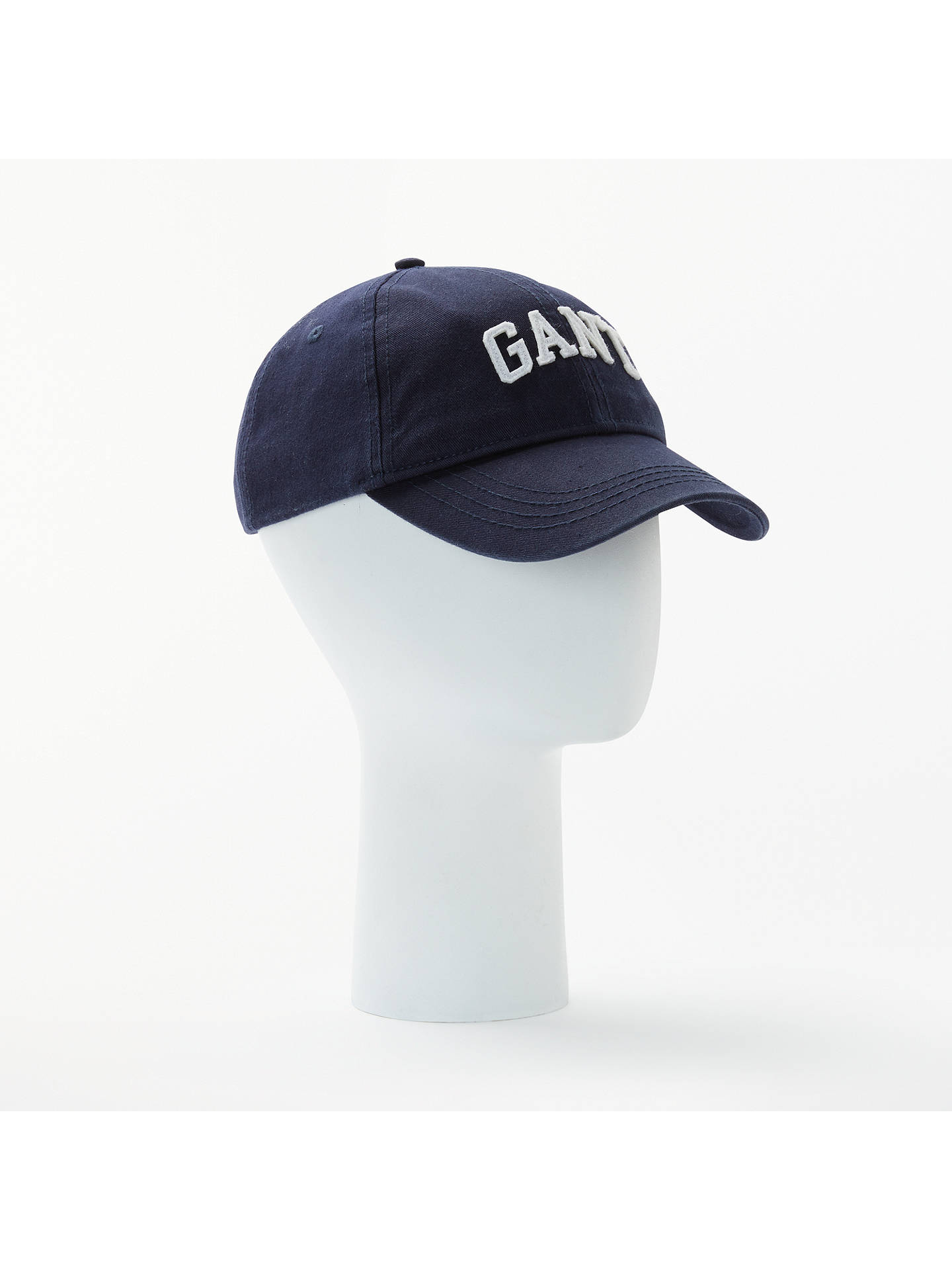 97c8b3a7 Buy GANT Washed Twill Baseball Cap, One Size, Navy Online at johnlewis.com  ...