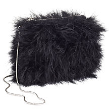 Buy Miss Selfridge Faux Fur Cross Body Bag, Black Online at johnlewis.com