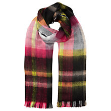 Buy Miss Selfridge Check Reversible Scarf, Multi Online at johnlewis.com