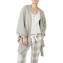 Buy Fat Face Lounge Wrap Cardigan, Grey Marl Online at johnlewis.com
