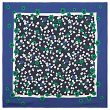 Buy Hobbs Dana Floral Silk Scarf, Navy/Multi Online at johnlewis.com