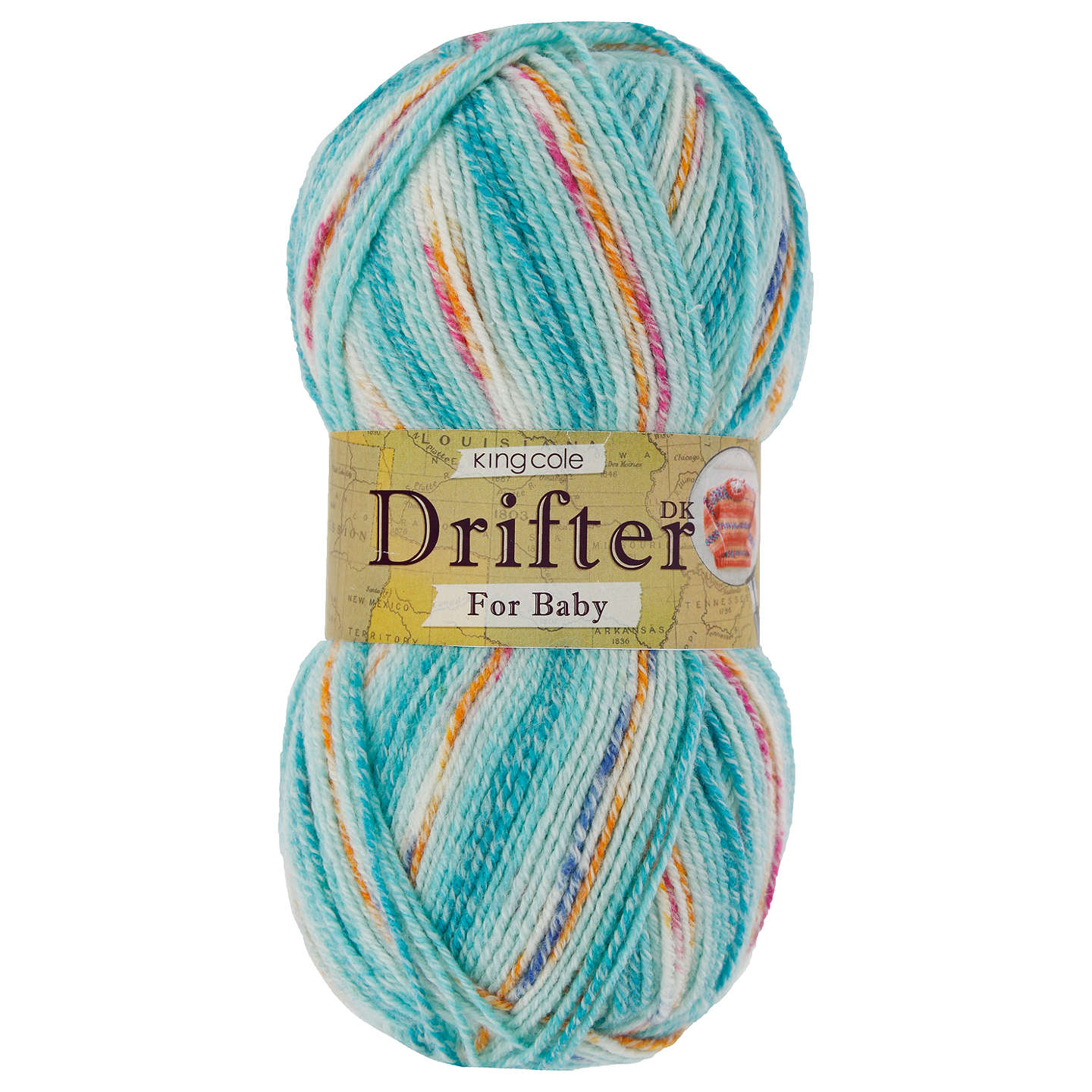 BuyKing Cole Baby Drifter DK Yarn, 100g, Kingfisher Online at johnlewis.com