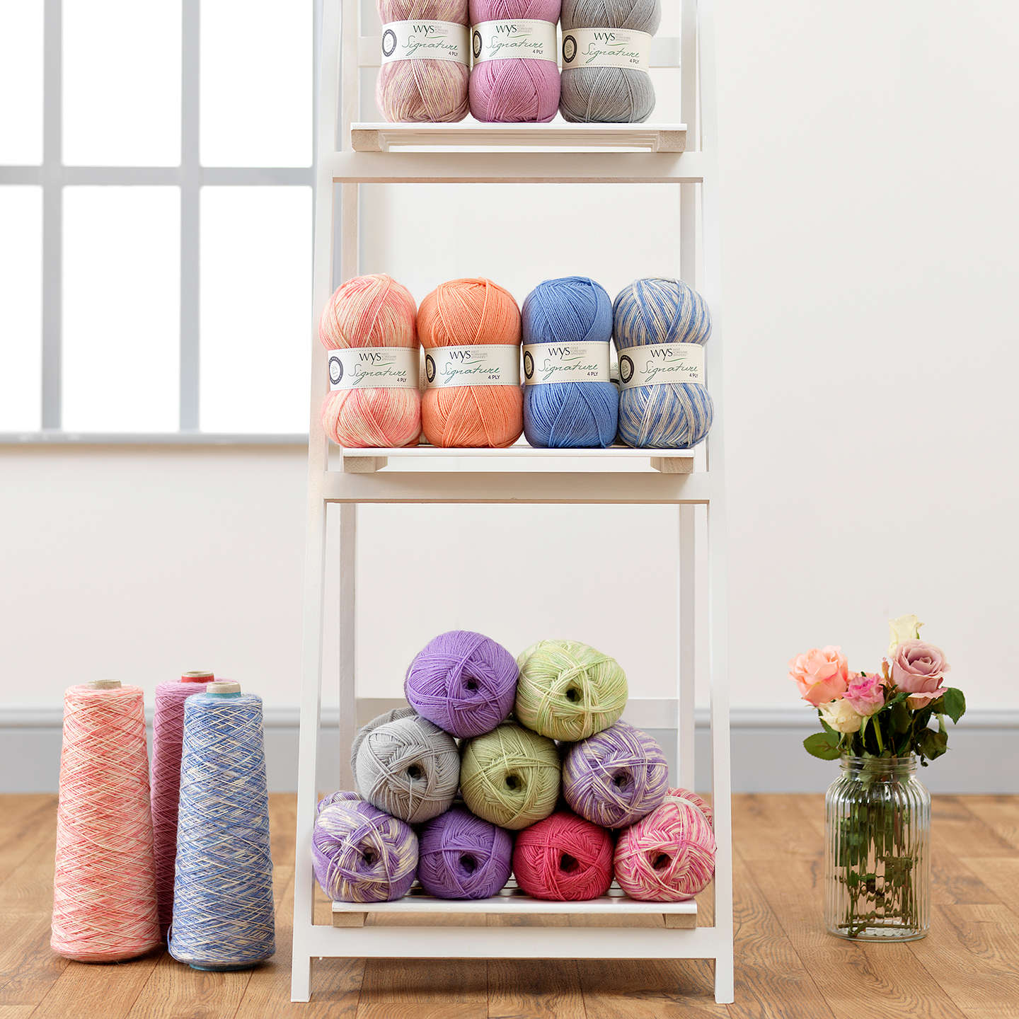 BuyWest Yorkshire Spinners Signature Florist 4 Ply Yarn, 100g, Foxglove Online at johnlewis.com