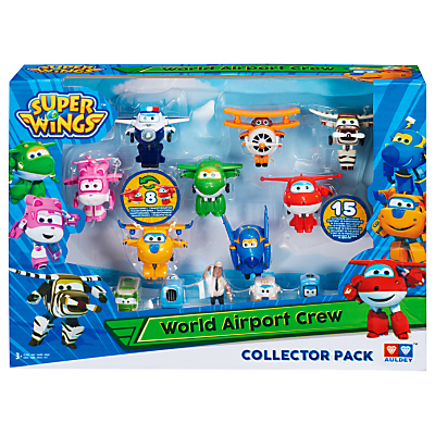 Super Wings World Airport Crew 15-Figure Collector Pack