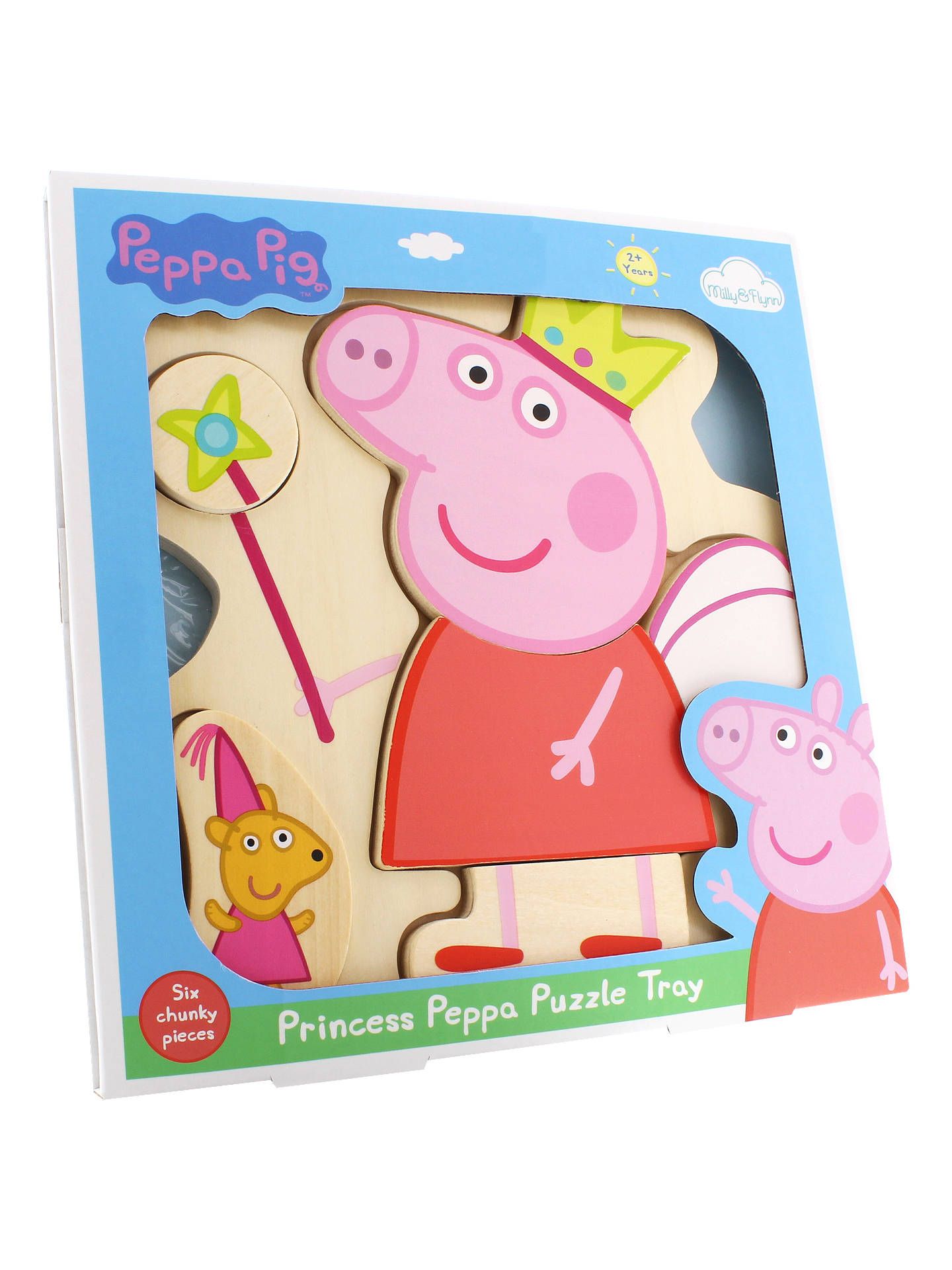 Buy Princess Peppa Wooden Puzzle Tray Online at johnlewis.com