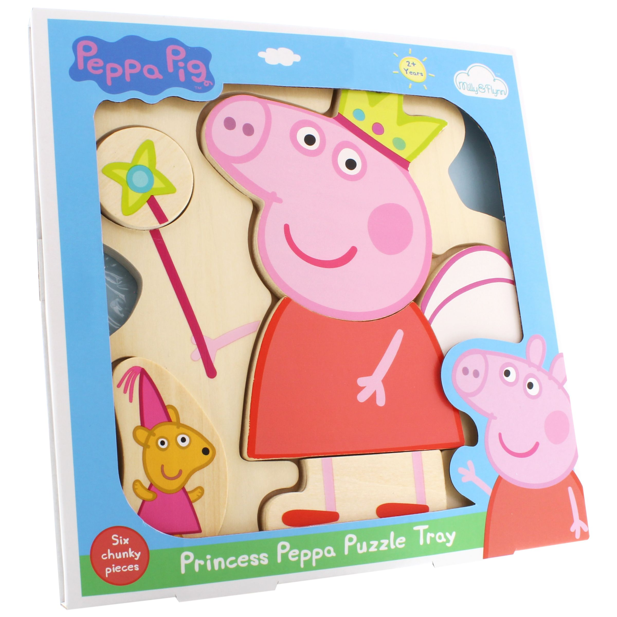 Peppa Pig Princess Peppa Wooden Puzzle Tray