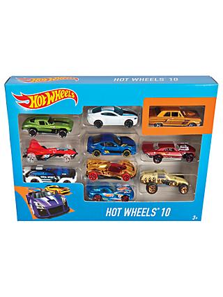 Hot Wheels Character Cars, Pack of 10, Assorted