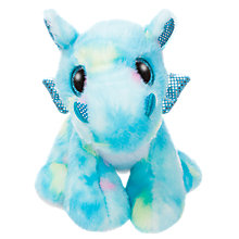"Buy Aurora World Sparkle Tales 7"" Dragon Storm Soft Toy, Blue Online at johnlewis.com"
