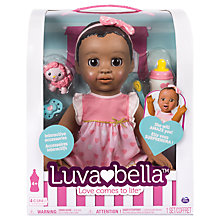 Buy Luvabella Baby Doll Dark Brown Hair Online at johnlewis.com