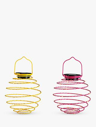 John Lewis & Partners Solar Metal Hanging Lantern Light, Assorted