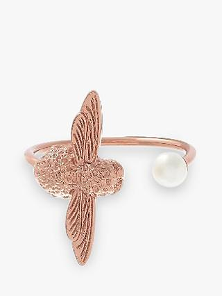 Olivia Burton Faux Pearl Bee Ring, Rose Gold OBJ16AMR09