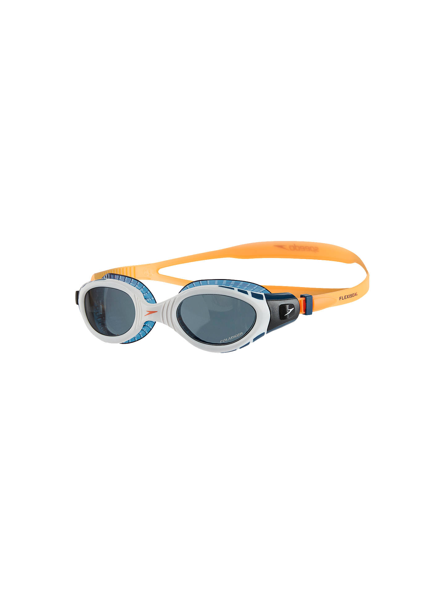 Buy Speedo Futura Biofuse Flexiseal Triathlon Swimming Goggles, Fluorescent Orange/White/Smoke Online at johnlewis.com