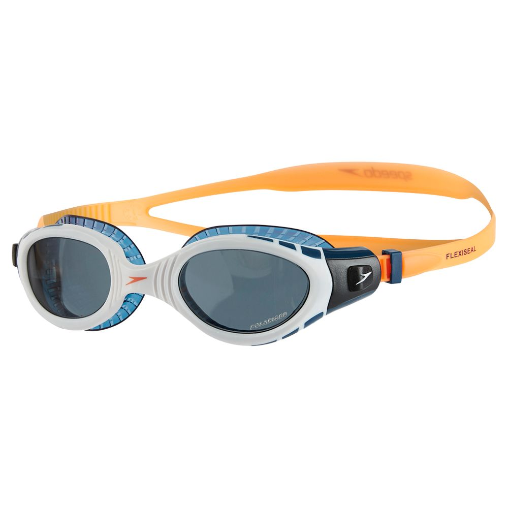 Speedo Speedo Futura Biofuse Flexiseal Triathlon Swimming Goggles, Fluorescent Orange/White/Smoke