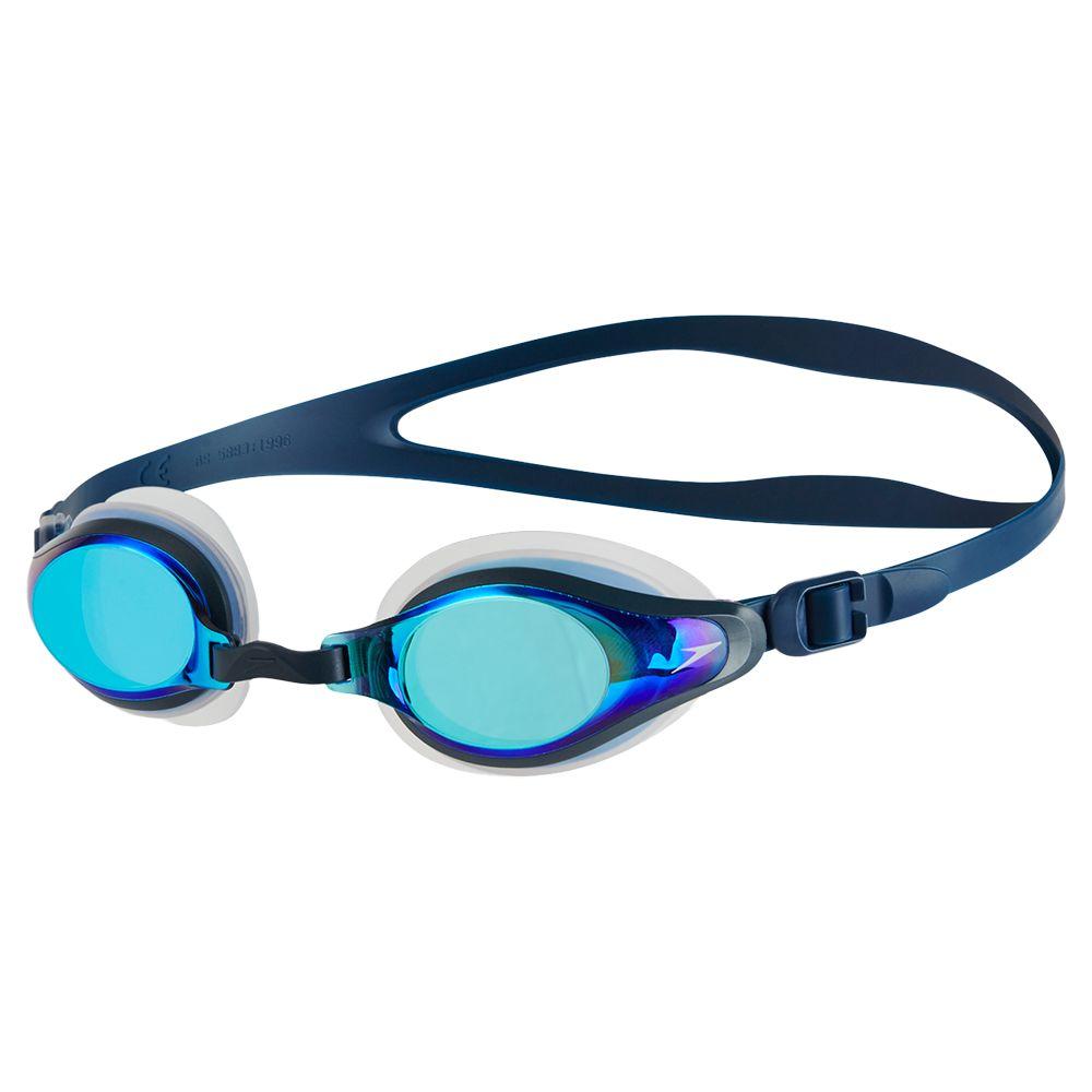 Speedo Speedo Mariner Supreme Mirror Goggles, Clear/Navy/Blue Mirror