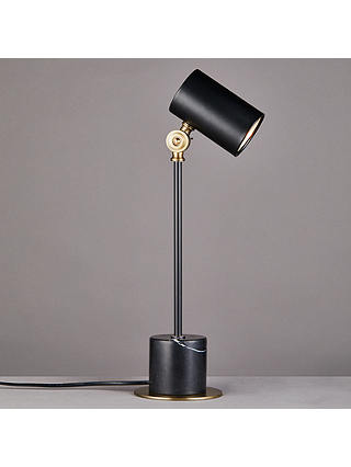 Buy John Lewis & Partners Fitzgerald Task Lamp, Black/Brass Online at johnlewis.com