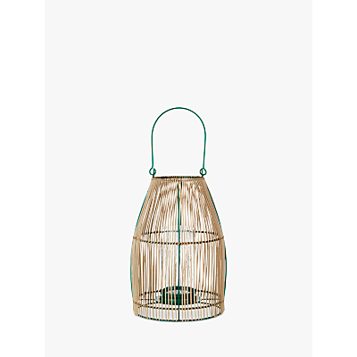John Lewis Poolside Cane Weave Candle Holder, Natural