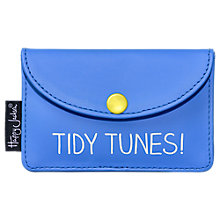 Buy Happy Jackson 'Tidy Tunes' Earphone Case, Blue Online at johnlewis.com