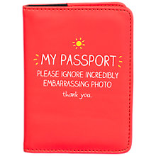 Buy Happy Jackson My Passport Holder, Red Online at johnlewis.com