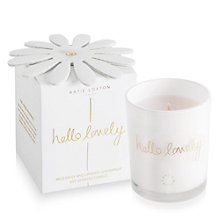 Buy Katie Loxton 'Hello Lovely' Wild Daisy and Grapefruit Scented Candle, 160g Online at johnlewis.com