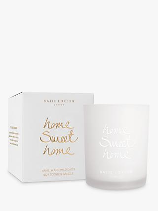 Katie Loxton 'Home Sweet Home' Sweet Vanilla and Wild Daisy Scented Candle, 160g