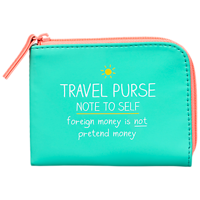 Happy Jackson 'Note To Self' Travel Purse, Turquoise