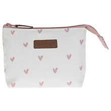 Buy Sophie Allport Hearts Canvas Make Up Bag Online at johnlewis.com
