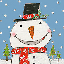Buy ArtPress Smiley Snowman Christmas Card Online at johnlewis.com
