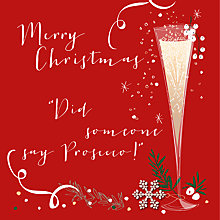 Buy Belly Button Designs Prosecco Christmas Card Online at johnlewis.com