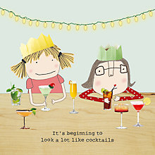 Buy Rosie Made A Thing Cocktails Christmas Card Online at johnlewis.com